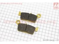 Тормозные колодки передние дисковые Honda LEAD 90 AF20 желтые [YONGLI]