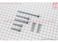Болт крепления крышка вариатора Suzuki LETS 4T- к-кт 7шт (под шестигранник) [SALO]