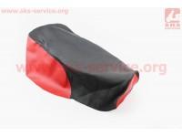 Чехол сиденья МТ (эластичный, прочный материал) черный/красный [Украина]