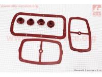 Ремонтный комплект резиновых деталей МТ, Красные, 7шт [Китай]