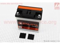 "Аккумулятор 9Аh MOTO 6МТС-9 кислотный (L140*W75*H140mm), 2020, круглая клема, МТ, ИЖ ""STARTA"" [Украина]"