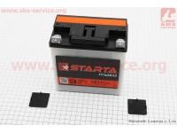 "Аккумулятор 9Аh MOTO 6МТС-9 кислотный (L140*W75*H140mm), 2020, плоская клема, МТ, ИЖ ""STARTA"" [Украина]"