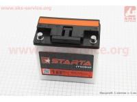 """Аккумулятор 6V 18Аh 3МТС-18 кислотный (L140*W75*H140mm), 2021, круглая клема, МТ, ИЖ """"STARTA"""" [Украина]"""