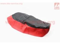 Чехол сиденья Юпитер-5, Планета-5 (эластичный, прочный материал) черный/красный [Украина]