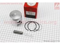 Поршень, кольца, палец к-кт Suzuki AD100/110 52,5мм +1,00 (палец 12мм), красная коробка [SEE]