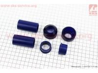Ремонтный комплект передней вилки Yamaha JOG - втулки 4шт под шток 22,3мм + пыльники 2шт [SALO]