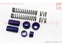 Ремонтный комплект передней вилки Suzuki AD - втулки 4шт под шток 21,7мм + пружины 4шт + пыльники 2шт [SALO]
