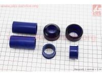 Ремонтный комплект передней вилки Yamaha JOG - втулки 4шт под шток 22,0мм + пыльники 2шт [SALO]