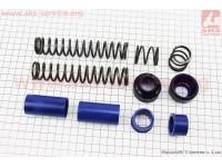 Ремонтный комплект передней вилки Suzuki AD - втулки 4шт под шток 22,0мм + пружыны 4шт+ пыльники 2шт [SALO]