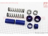 Ремонтный комплект передней вилки Yamaha JOG - втулки 4шт под шток 22,0мм + пружины 4шт + пыльники 2шт [SALO]