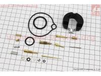 Ремонтный комплект карбюратора Honda DIO 50, 18 деталей+поплавок [Mototech]