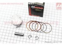 Поршень, кольца, палец к-кт Yamaha SA36J +0,50 (палец 10мм) [Mototech]