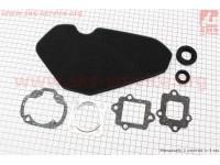 """Фильтр-элемент воздушный (поролон) Suzuki LETS + прокладки + сальники, к-кт 7 деталей, """"расходники"""" [Украина]"""