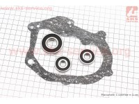 Подшипники редуктора Yamaha GEAR 2T к-кт 3шт (6200 2RS; 6200 RS; 6203 2RS)  + прокладка [Украина]