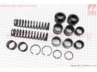 Ремонтный комплект передней вилки Yamaha JOG NEXT ZONE ZR - втулки 6шт + пружины 4шт + пыльники 2шт + скобы 4шт [Mototech]