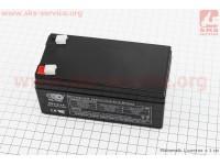 Аккумулятор OT3,3-12 - 12V3,3Ah (L134*W67*H61mm) для ИБП, игрушек и др., 2020 [OUTDO]