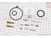 Ремонтный к-кт карбюратора 110сс, 16 деталей + поплавок [Mototech]