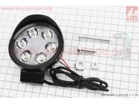 Фара дополнительная светодиодная влагозащитная - 6 LED с креплением, тип 2 [Китай]