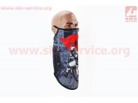 """Маска лица пылезащитная """"MOTOCROSS"""", с черным рисунком, GE-80 [Китай]"""