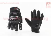 Перчатки мотоциклетные L-Чёрные, тип 1