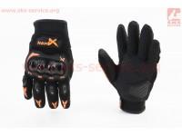 Перчатки мотоциклетные L-Чёрно-Оранжевые [NEXX]
