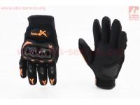 Перчатки мотоциклетные XL-Чёрно-Оранжевые [NEXX]