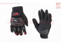 Перчатки мотоциклетные L-Чёрно-Красные [NEXX]