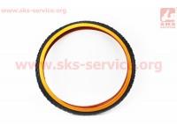 """Шина 26""""x2,125 (50-559) шипованная (оранжевый борт) SV223 [SRC]"""