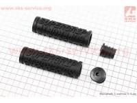 Ручки руля 100мм под грипшифт, черные PVC-111B [FB ONE]