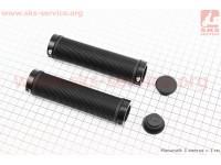 Ручки руля 130мм с зажимом Lock-On с двух сторон, черные TPE-151А [FB ONE]