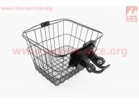 Корзина багажная на руль съемная, черная JL-CK095 [Китай]