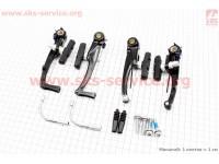 Тормоз V-brake задний+передний в сборе 110мм, черные С-310 [ТЕКТRO]