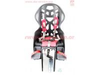 Сиденье для перевозки детей пластмассовое заднее, крепл. на багажник, пятиточечный ремень безопасности, BC-195 [Taiwan]