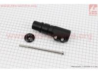 """Удлинитель штока вилки 1 1/8"""" (28.6 мм)х120mm в сборе, алюминиевый, черный KL-4025 [KENLI]"""