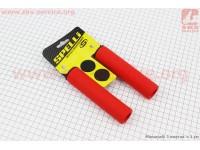 Рукоятки руля 130мм, силиконовые к-кт, красные SBG-S16180 [SPELLI]