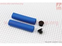 Рукоятки руля 130мм, пенорезиновые к-кт, синие [AOPERATE]