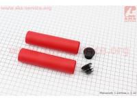 Рукоятки руля 130мм, пенорезиновые к-кт, красные [AOPERATE]