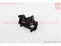 Тормозной суппорт задний (адаптер F180/R160мм), черный MDA12 [ARES]