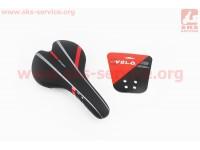 Сиденье на MTB, черно-красное SPORT VL-4218 [VELO]