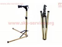 Стенд для ремонта велосипеда алюминиевый, складной, регулируемая высота 100-150 см, регулируемый угол наклона велосипеда, крепл. эксцентрик YC-100BH [BIKE HAND]