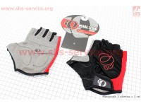 Перчатки без пальцев XL-черно-красные, с мягкими вставками под ладонь [PEARL iZUMi]