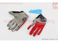 """Перчатки M-серо-красные, с мягкими вставками под ладонь """"GIANT"""" [Китай]"""