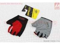 Перчатки без пальцев M-черно-красные, с гелевыми вставками под ладонь SBG-1457 [SPELLI]