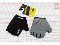 Перчатки без пальцев L-черные, с гелевыми вставками под ладонь SBG-1457 [SPELLI]