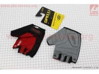 Перчатки без пальцев L-черно-красные, с гелевыми вставками под ладонь SBG-1457 [SPELLI]