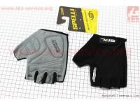 Перчатки без пальцев XL-черные, с гелевыми вставками под ладонь SBG-1457 [SPELLI]