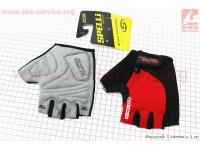 Перчатки без пальцев XL-черно-красные, с гелевыми вставками под ладонь SBG-1457 [SPELLI]