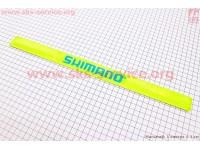 Защита штанов от попадания в цепь, светоотражающая, салатовая SHIMANO [Китай]