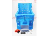 Сиденье для перевозки детей пластмассовое заднее, крепл. на багажник, синее [Китай]