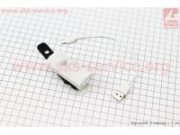 Фонарь передний 1 диод 300 lumen алюминиевый, Li-ion 3.7V 800mAh зарядка от USB, влагозащитный, белый RPL-2255 [RAYPAL]